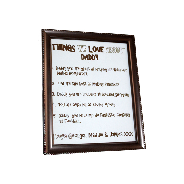 Frame Things We Love About Daddy Fdgfa0002 Kiss Chase Creations
