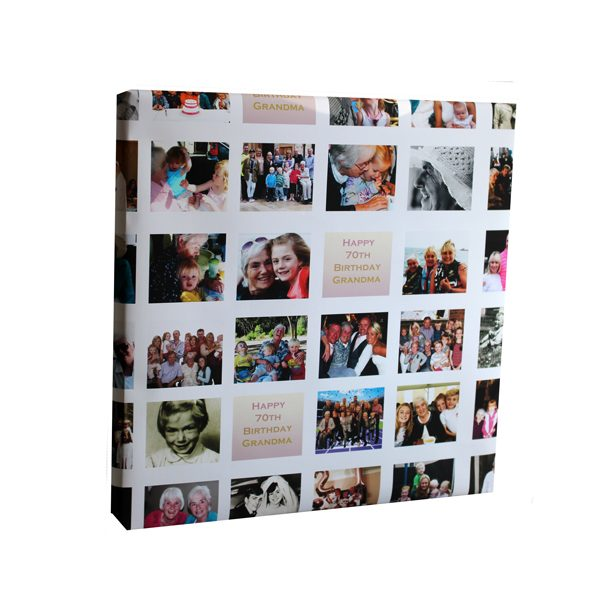 personalised multi photo wrapping paper female milestone birthday Essex