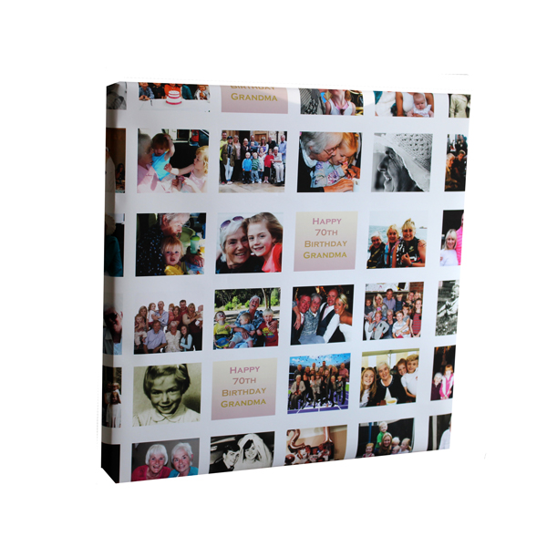 Personalised Multi Photo Wrapping Paper Female Milestone Birthday Essex