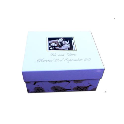 unique gift idea London Essex personalised anniversarykeepsake memory box