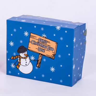 unique gift idea London Essex personalised christmas eve box