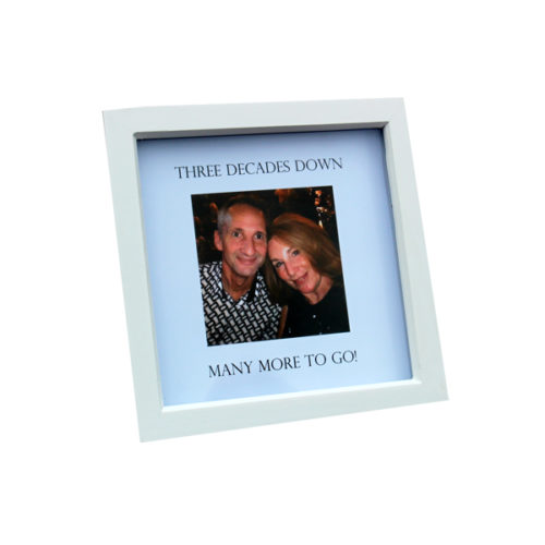 unique gift idea London Essex personalised 30th wedding anniversary box frame