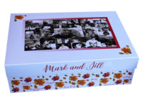 personalised Autumn wedding large keepsake gift box Essex