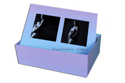 Unique gift ideas London Essex, Large personalised keepsake box for baby shower