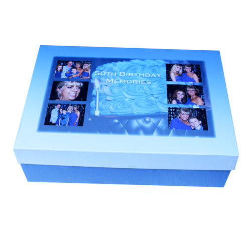Unique gift idea personalised 50th birthday Large keepsake box