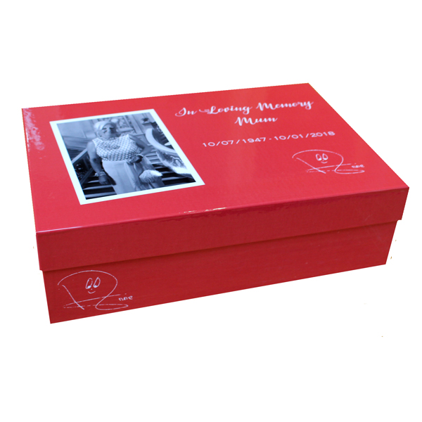 Unique gift idea personalised 'In Loving Memory' Large keepsake box