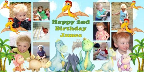 Large Personalised Banner 2nd Bitthday 2ft x 4ft
